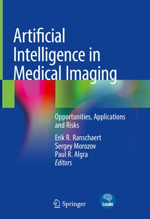 Book cover, Artifical Intelligence in Medical Imaging